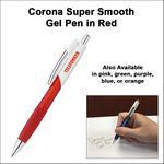 Custom Corona Super Smooth Gel Pen - Red