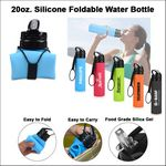 Custom 20oz. Silicone Foldable Water Bottle