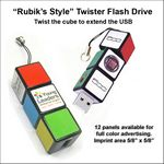 Custom Rubiks Style Twister Flash Drive - 2 GB