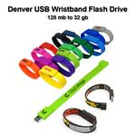 Custom Denver USB Wristband - 4 GB Memory