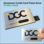 Custom Aluminum Credit Card Flash Drive - 1GB Memory