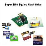 Custom Super Slim Square Flash Drive - 4 GB Memory