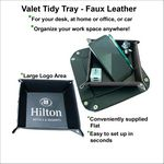 Custom Valet Tidy Tray - Faux Leather - Portable
