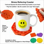 Custom Stress Relieving Coaster with Fidget Bubbles