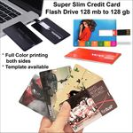 Custom Credit Card Flash Drive - 128 MB Memory