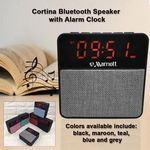 Custom Cortina Bluetooth Speaker with an Alarm Clock with Amazing Sound - Grey