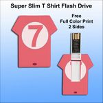 Custom Super Slim T Shirt Flash Drive - 8 GB Memory