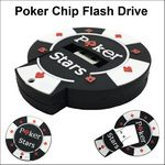 Custom Poker Chip Flash Drive - 128 MB