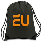 Drawstring Backpack--Black--1-Color Imprint