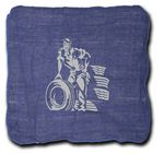 Custom Shop Towel --Blue--14x14 (Imprint Included)
