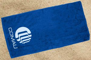Velour Beach Towel 30X60 - Royal (IMPRINTED)