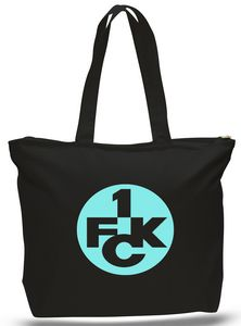 Heavy Jumbo Black Canvas Tote--20x15x5--1-Color Imprint