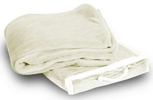 Micro Plush Coral Fleece Blanket --50X60 Cream Ivory (Embroidered) -  MCFCI5060 - IdeaStage Promotional Products b5d52a2ef
