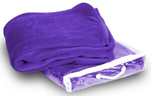 Micro Plush Coral Fleece Blanket --50X60 Purple (Embroidered) - MCFPL5060 -  IdeaStage Promotional Products 7bbf0ab34