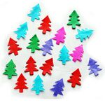 Custom Flame Retardant Christmas Tree Shaped Colorful Paper Confetti
