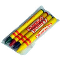 4 Color Crayons in Clear Bag