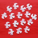 Custom Unfading Flame Retardant Pigeon Shaped Paper Confetti