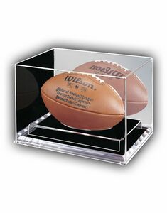 Football Case with 1/4 Clear Base (9x13x9)
