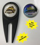 Golf Divot Toll with Magnetic Ball Marker