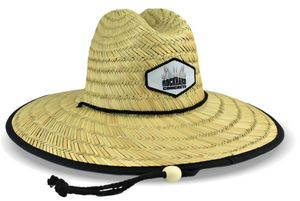 Domestic Straw Hat With Custom Patch