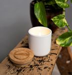 Custom Soy Wax Candle with Bamboo Lid US Made