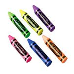 Crayon Shape Erasers (Case of 8)