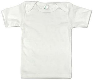 Custom Baby Clothes Short Sleeve White Lap Tee - 3-6M