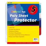 Custom 5 pack Poly Sheet Protectors with Colored Tabs