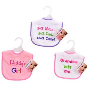 Custom Baby Essentials Bibs with Embroidered Text