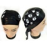 Custom Skull Caps Motorcycle Hats Fabric & Leather Skull