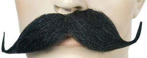 Custom Costume Accessory Mustache Handle Bar Black