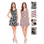 Custom Women's Premium Short Flare Dresses - Assorted Prints