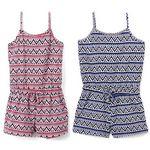 Custom Baby Girl's Zig Zag Print Knit Rompers - Size 12-24M