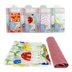 Custom Bath Mat And Shower Curtain With 12-hook Set -Assorted