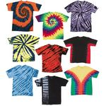 Custom Irregular Youth Tie Dye T-Shirts - Assorted - Size Small (Case of 12)