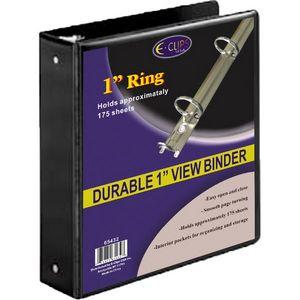 black 1 inch 3 ring vinyl view binder 1819592 ideastage