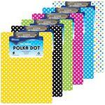 Custom BAZIC Standard Size Polka Dot Paperboard Clipboard w/ Low Profile Clip