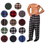 Custom Men's Flannel Pajama Bottoms S-XL