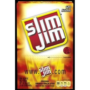 Slim Jim Orig Snack Stick C-Top .28Oz 120Ct