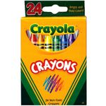 Crayola Crayons - 24 Count, Assorted Colors (Case of 48)