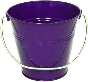 Custom Metal Bucket - Purple (5 inches tall x 6 inches)