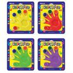 Custom BAZIC 5 Colors 5 ml. Finger Paint w/ Hand Shaped Mixing Tray