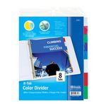 Custom BAZIC 3-Ring Binder Dividers w/ 8-Insertable Color Tabs