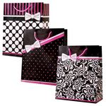 Custom Large Pretty in Pink Gift Bags (Gloss)