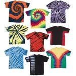 Custom Irregular Youth Tie Dye T-Shirts - Assorted - Size Large (Case of 12)