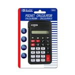 BAZIC 8-Digit Pocket Size Calculator w/ Flip Cover (Case of 24)