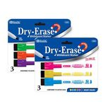 Custom BAZIC Bright Color Magnetic Dry-Erase Markers (3/Pack)