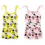 Custom Infant Girl's Circular Print Knit Rompers - Size 12-24M