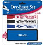 Custom Bazic 3 Assorted Color Bullet Tip Dry Erase Marker