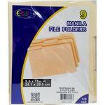 Custom Manila File Folders - 9 Pack